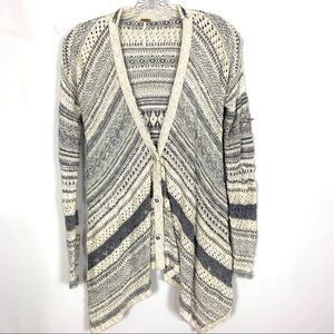 Free People Asymmetrical Button Front Cardigan XS